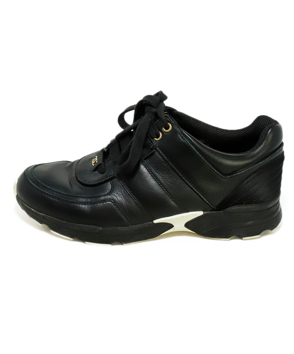 Chanel Black Leather Sneakers 2