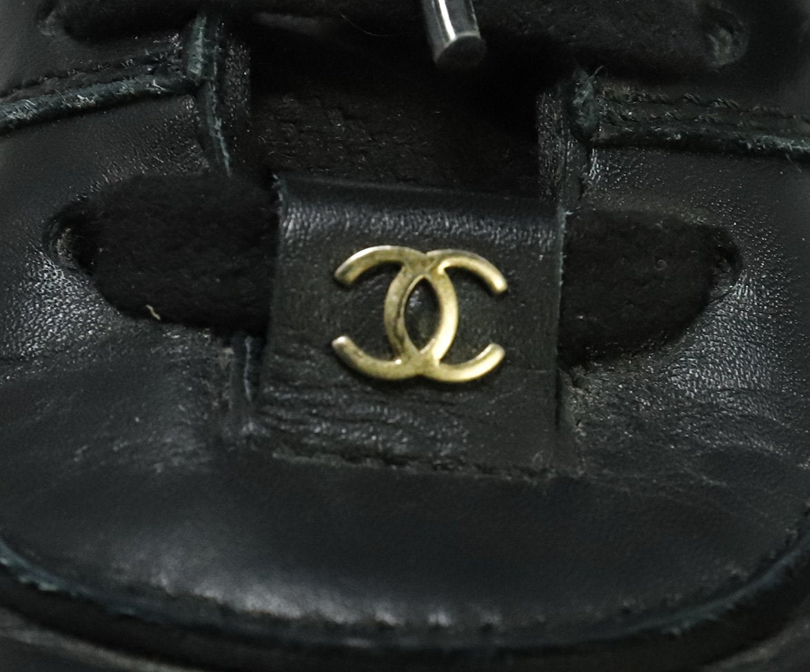 Chanel Black Leather Sneakers 6
