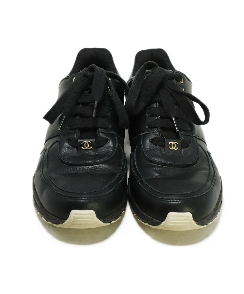 Chanel Black Leather Sneakers 4