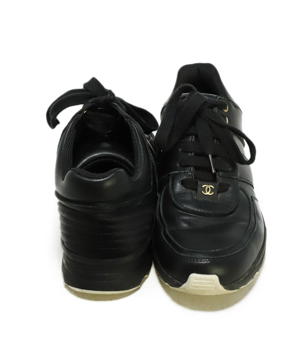 Chanel Black Leather Sneakers 3