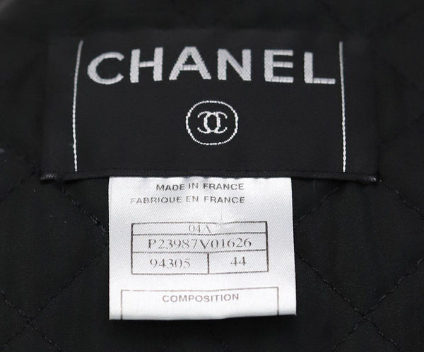 Trenchcoat Chanel Black Leather Wool Lurex Outerwear 4