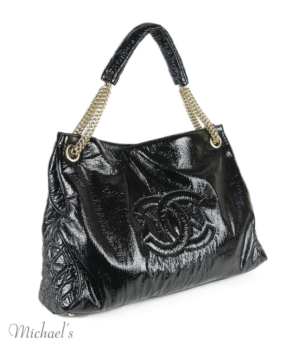 Chanel Black Patent Leather Handbag