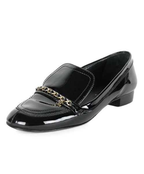 Chanel Black Patent Leather Shoes Sz 40.5
