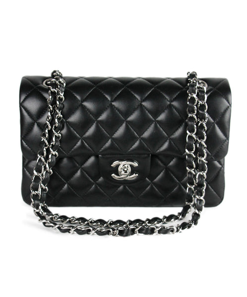 Chanel Classic Black Quilted Leather Handbag