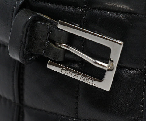 Chanel Black Quilted Leather Belt 1