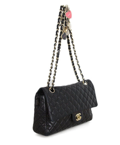 Chanel Black Quilted Leather Charm Handle Bag 1