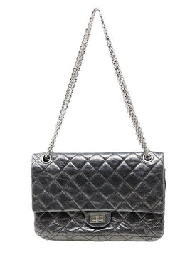 Chanel Black Quilted Leather Purse Reissue 1