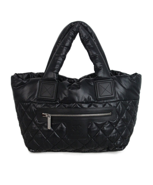 Chanel Black Quilted Nylon Tote 1
