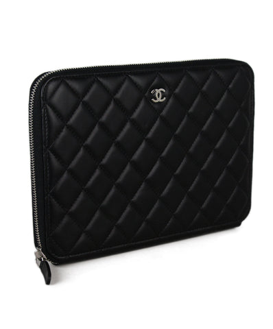 Chanel Black Quilted Travel Wallet Clutch 1