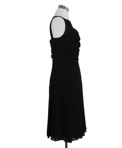 Chanel Black Ruched Silk Dress 1
