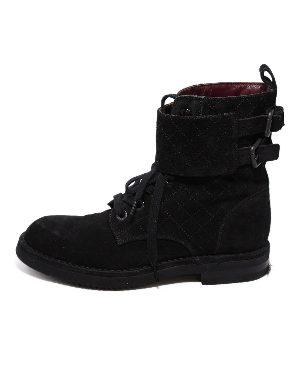 Chanel Black Suede Boots 2