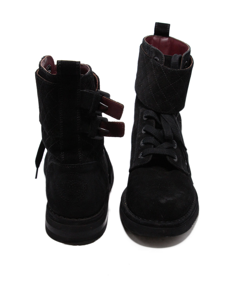 Chanel Black Suede Boots 3