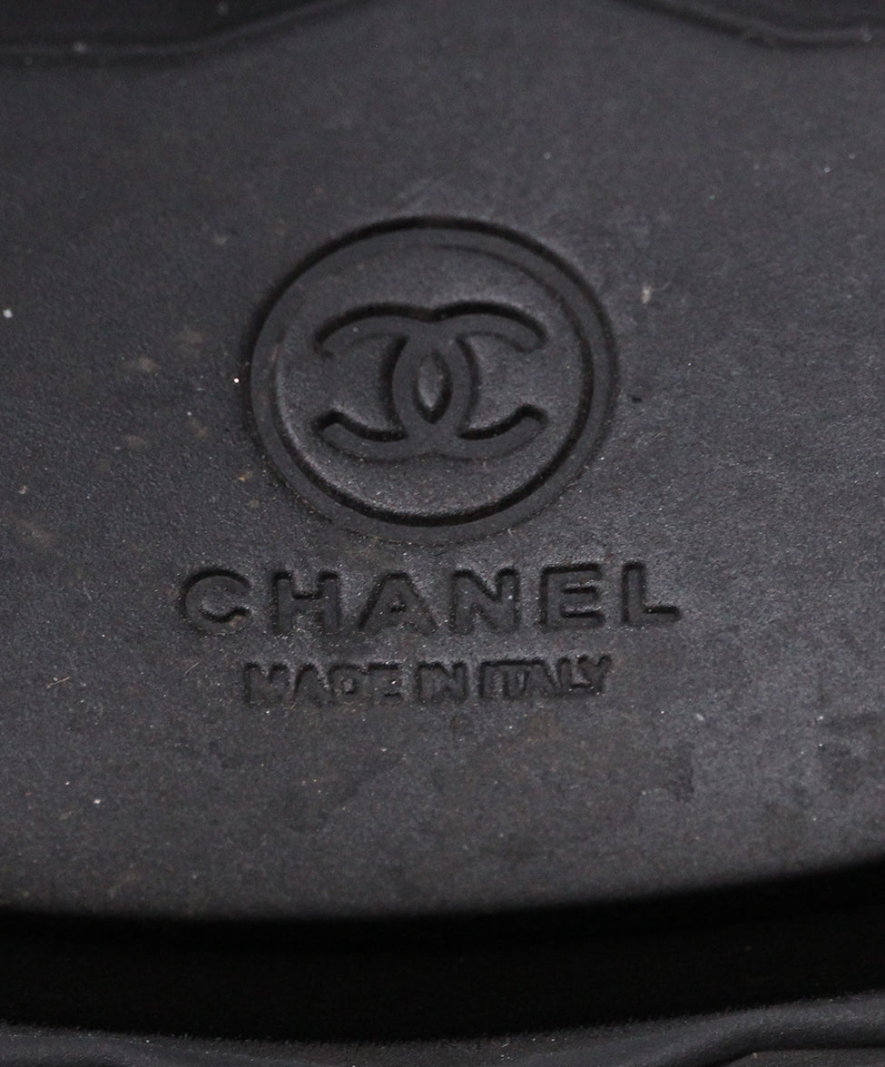 Chanel Black Suede Boots 6