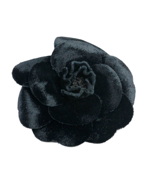 Chanel Black Velour Pin