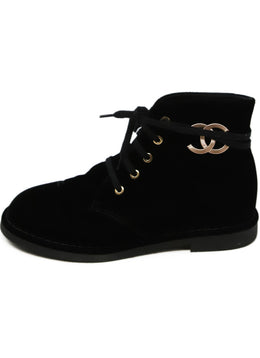 Chanel Black Velvet Booties 2