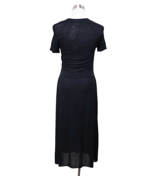 Chanel Black Viscose Dress Sz 4