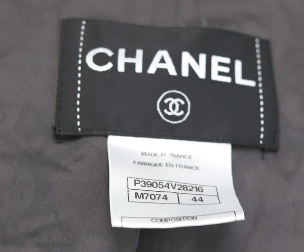 Chanel Black White Multicolor Wool Jacket 4
