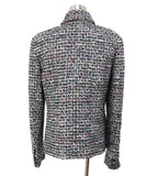 Chanel Black White Multicolor Wool Jacket 3