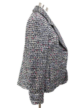 Chanel Black White Multicolor Wool Jacket 2