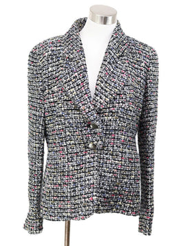 Chanel Black White Multicolor Wool Jacket 1