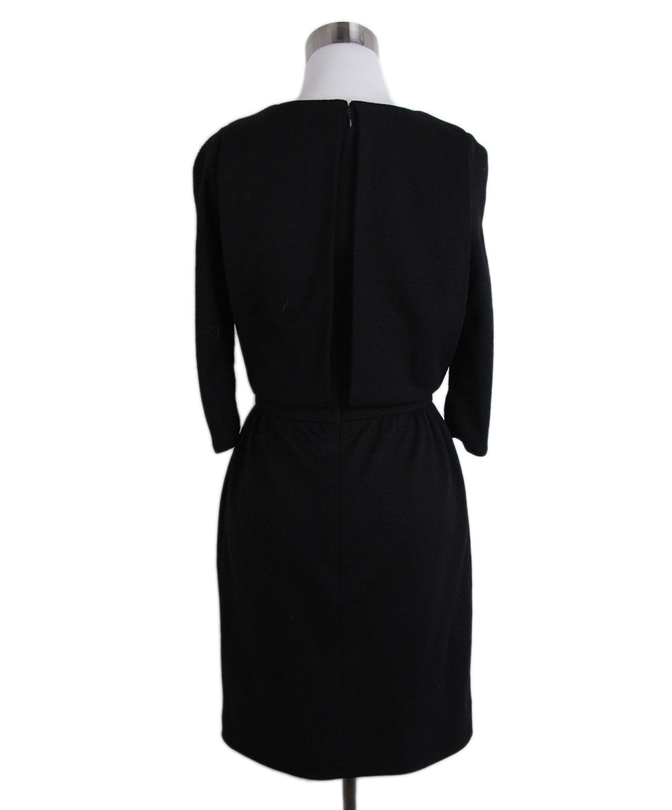 Chanel Black Wool Gripoix Buttons Dress 3