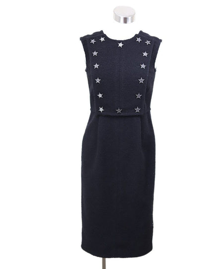 Chanel Black Cotton Dress Sz 4