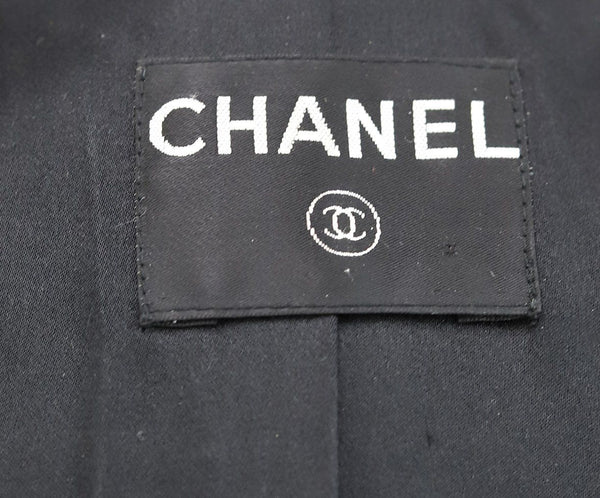 Chanel Black Wool Ribbon Trim Crystal Metal Trim Jacket 4