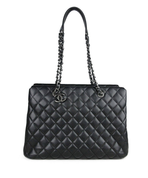 Chanel Black Caviar Leather Handbag