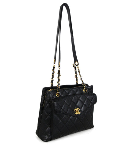 Chanel Black caviar leather tote 1