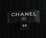 Chanel Black Cotton Ivory Pearl Buttons Cardigan Sweater 4
