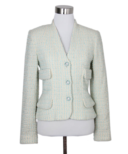 Chanel Blue Ivory Wool Jacket 1
