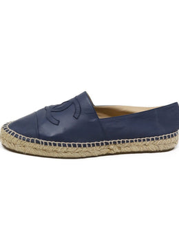 Chanel Blue Leather Espadrilles 1