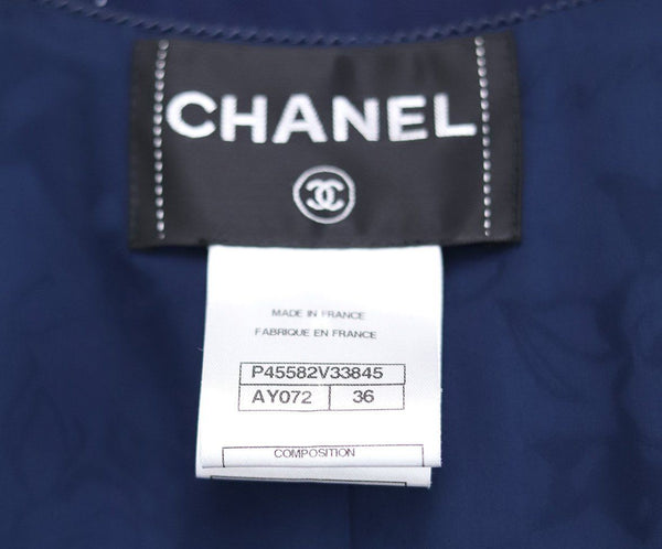Chanel Navy Cotton Trenchcoat 3
