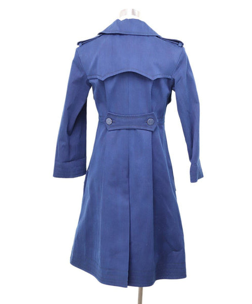 Chanel Navy Cotton Trenchcoat 2