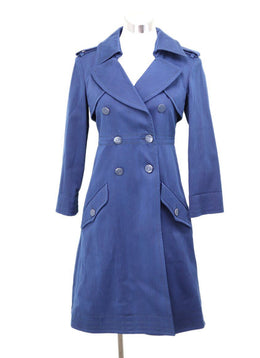 Chanel Navy Cotton Trenchcoat Sz 2