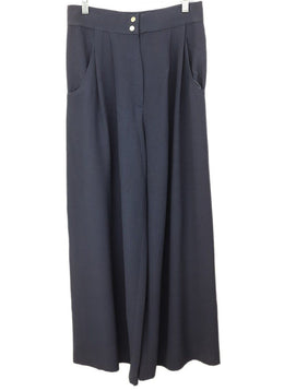 Chanel Blue Polyester Rayon Vintage Pants 1
