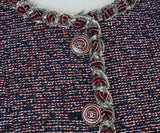 Chanel Blue, Red, and White Tweed Vest 5