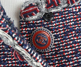 Chanel Blue, Red, and White Tweed Vest 6