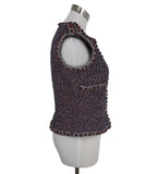 Chanel Blue, Red, and White Tweed Vest 2