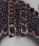Chanel Blue, Red, and White Tweed Vest 8