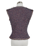 Chanel Blue, Red, and White Tweed Vest 3