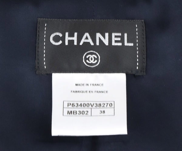 Chanel Blue, Red, and White Tweed Vest 4