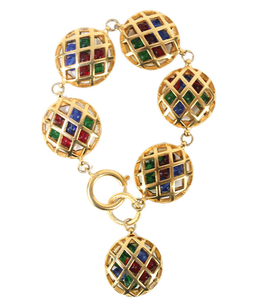 Chanel Gold Metal Gripoux Accent Bracelet - Michael's Consignment NYC  - 1