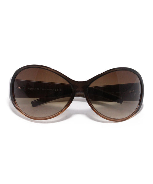 Chanel Bronze Plastic Sunglasses 1