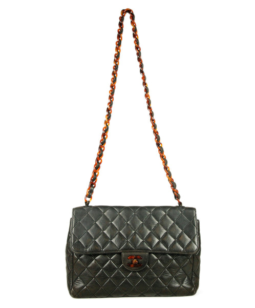 Chanel Brown Chocolate Quilted Leather Bag 1