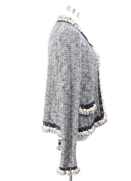 Chanel Brown Cream Wool Cashmere Cardigan 2