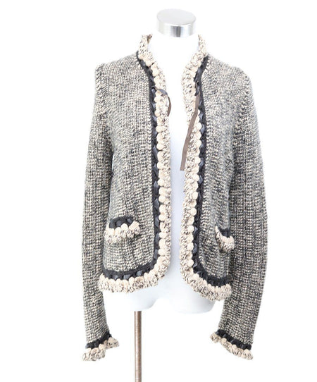 Chanel Purple Ivory Jacket Size 6