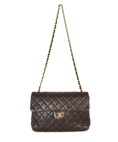 Chanel Brown Lambskin Shoulder Bag 1