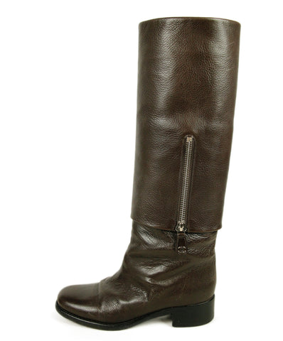 Chanel Brown Leather Boots 1
