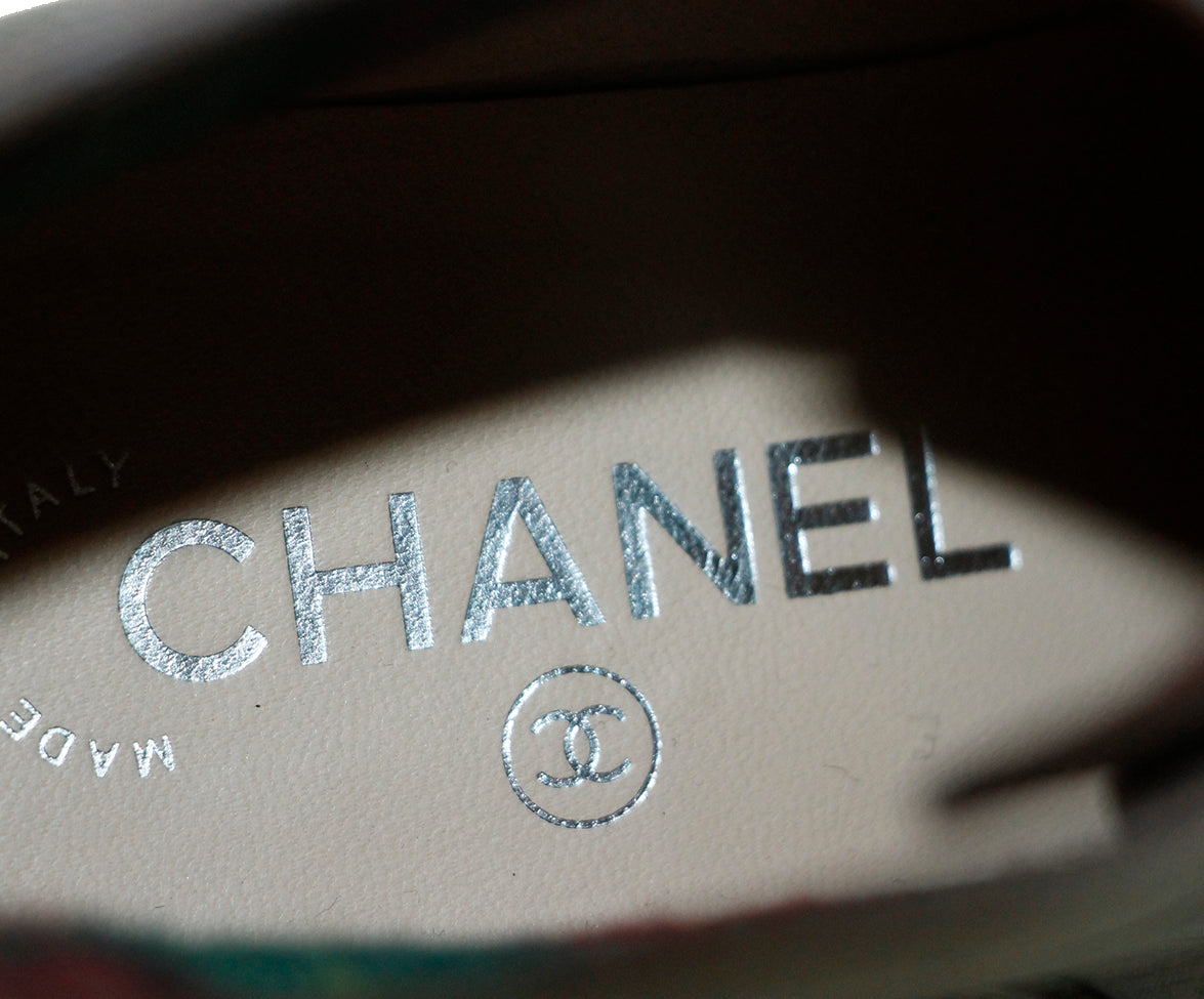 Chanel Brown Leather Boots 8